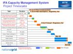 ifa capacity management system project timescales