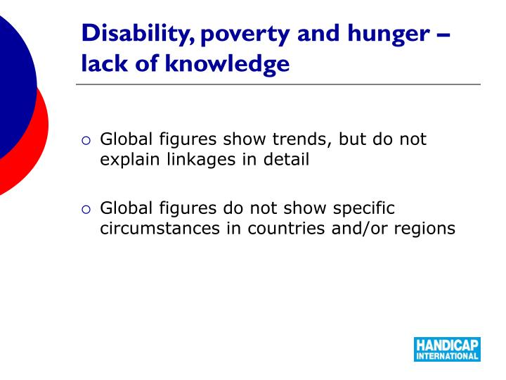 Disability, poverty and hunger – lack of knowledge