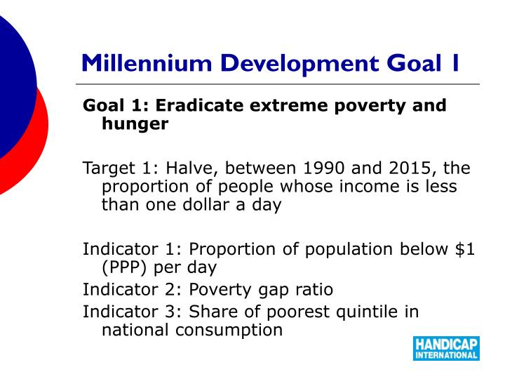 Millennium Development Goal 1