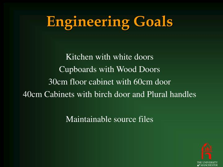 Engineering Goals