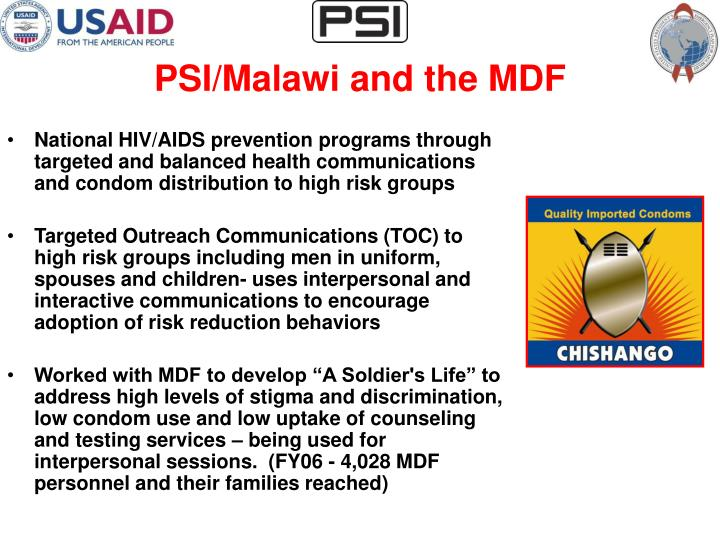 Psi malawi and the mdf