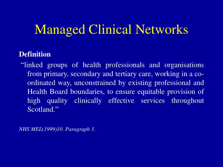 Managed clinical networks2