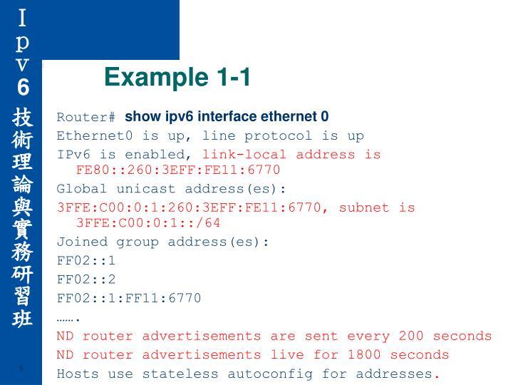 Example 1-1