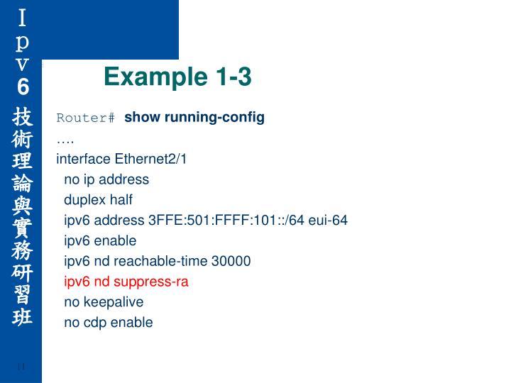 Example 1-3