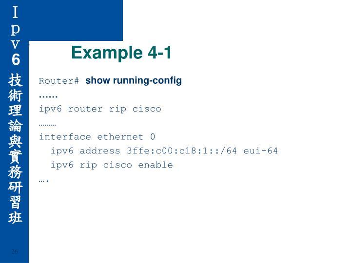 Example 4-1