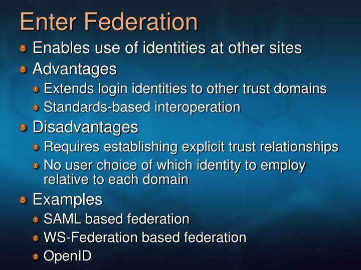 Enter Federation