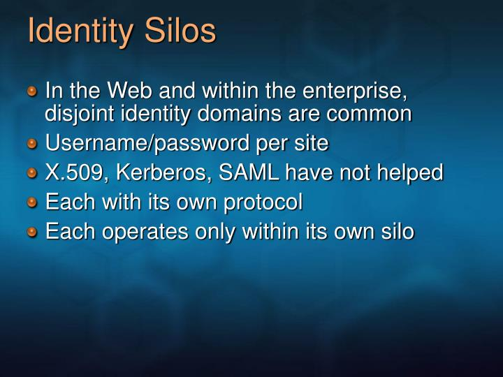 Identity Silos