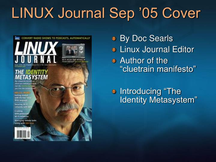 LINUX Journal Sep '05 Cover