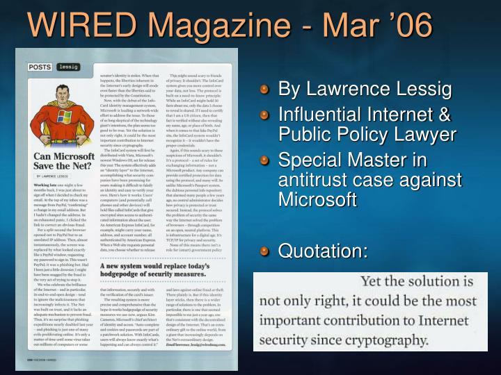 WIRED Magazine - Mar '06