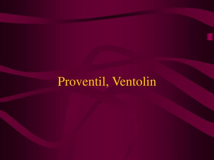 Proventil, Ventolin