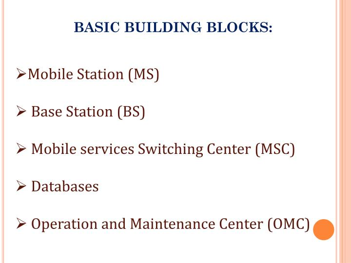 BASIC BUILDING BLOCKS: