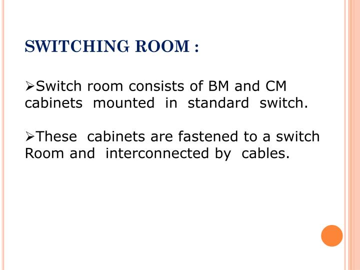 SWITCHING ROOM :
