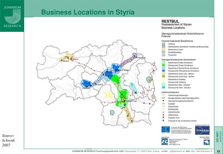 Business Locations in Styria