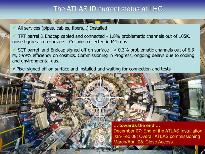 The ATLAS ID current status at LHC