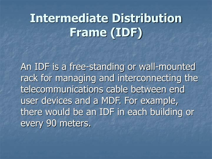 Intermediate Distribution Frame (IDF)