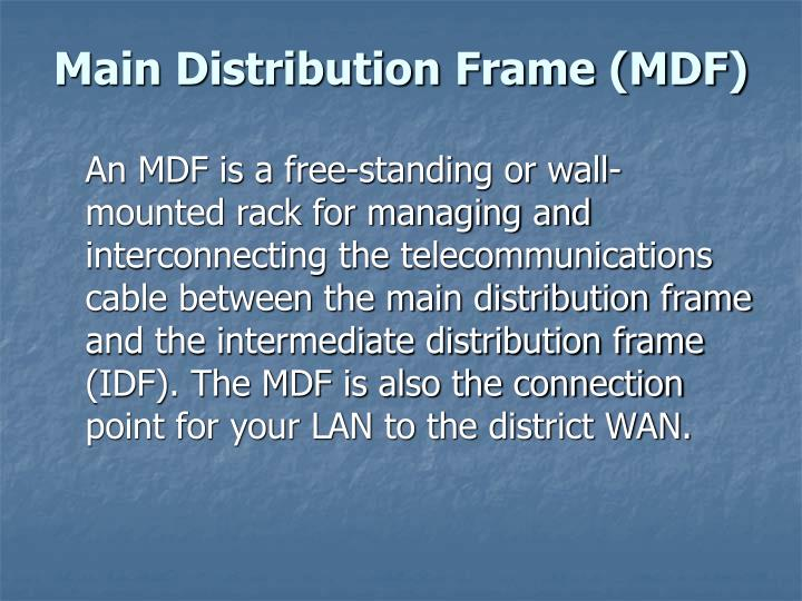Main Distribution Frame (MDF)