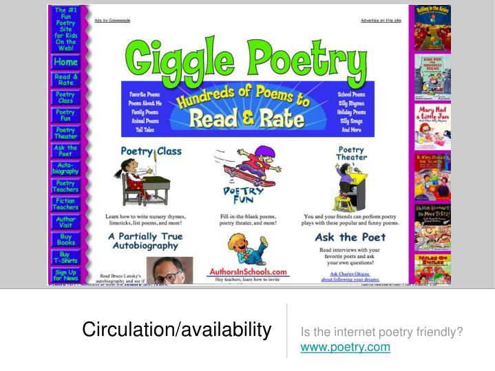 Circulation/availability
