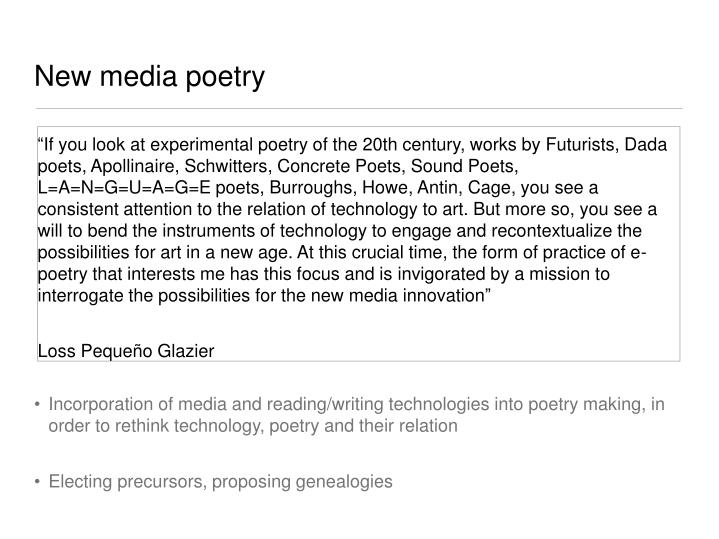 New media poetry