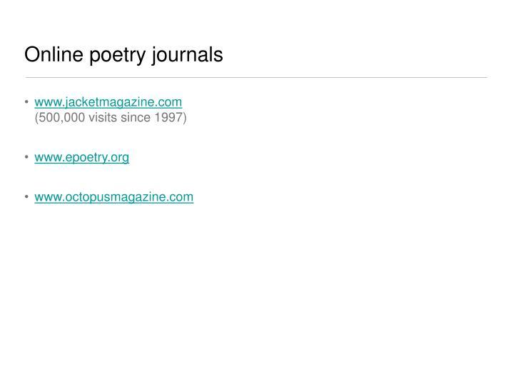 Online poetry journals