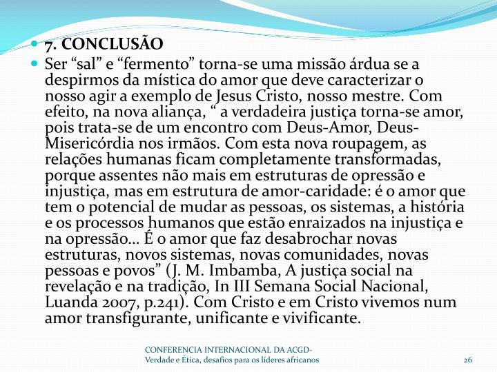 7. CONCLUSÃO