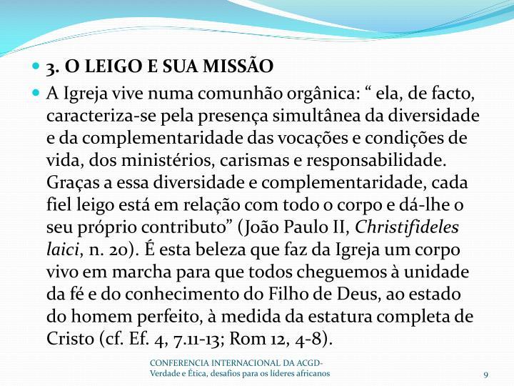 3. O LEIGO E SUA MISSÃO