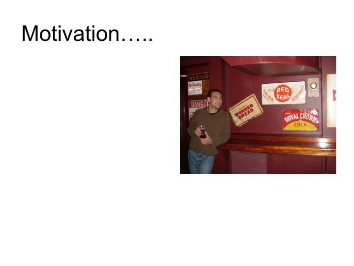 Motivation…..
