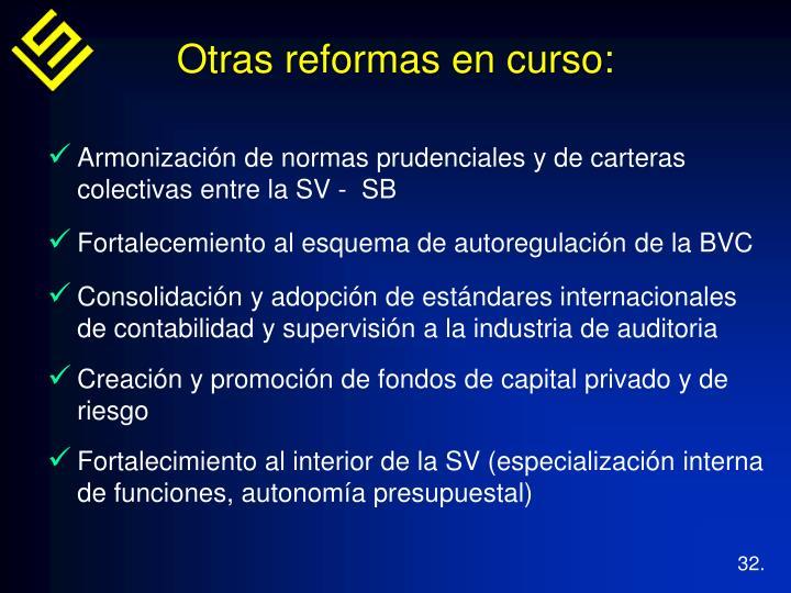 Armonización de normas prudenciales y de carteras colectivas entre la SV -  SB