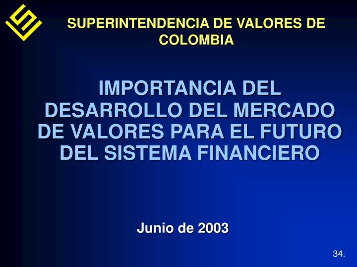 SUPERINTENDENCIA DE VALORES DE COLOMBIA