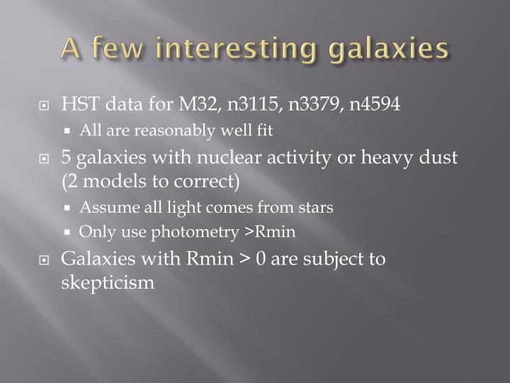 A few interesting galaxies