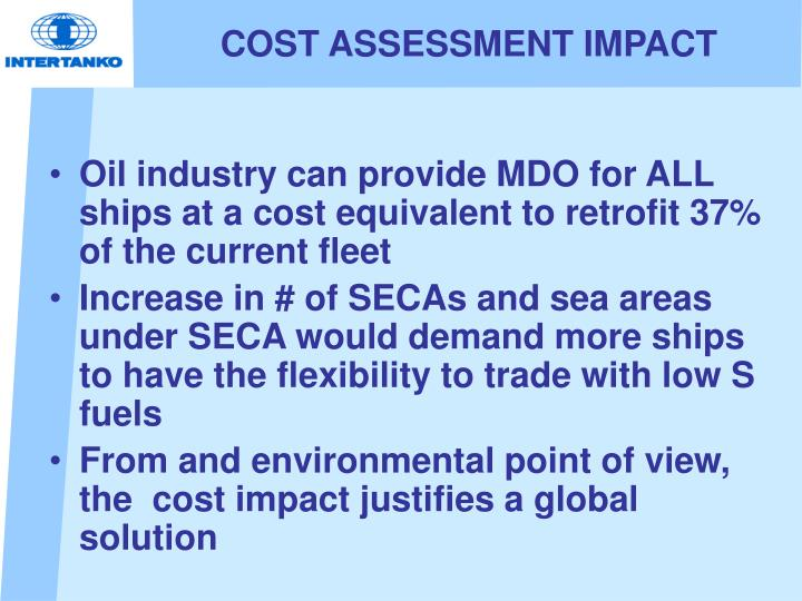 COST ASSESSMENT IMPACT