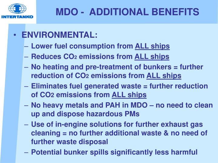 MDO -  ADDITIONAL BENEFITS