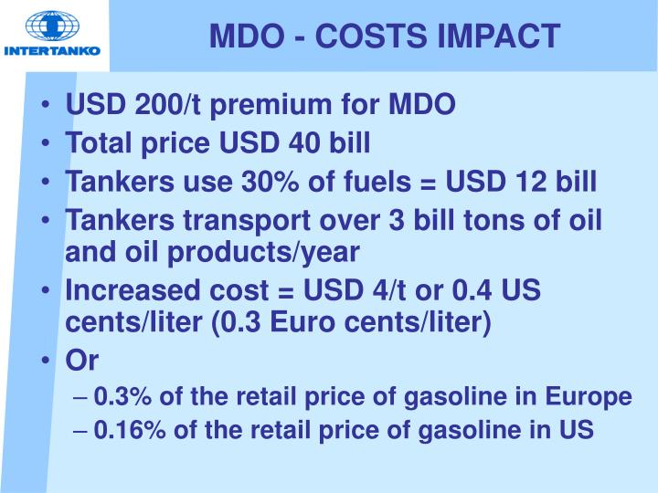 MDO - COSTS IMPACT