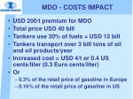 mdo costs impact