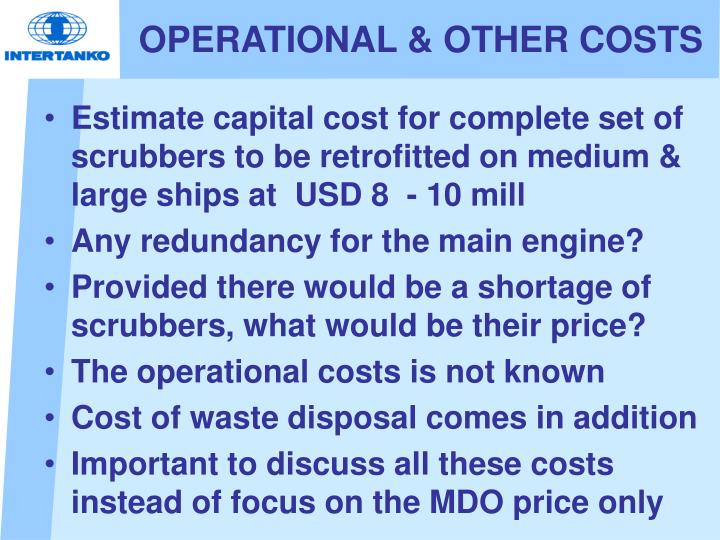 OPERATIONAL & OTHER COSTS