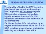 reasons for switch to mdo