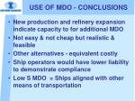 use of mdo conclusions1