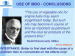 use of mdo conclusions3