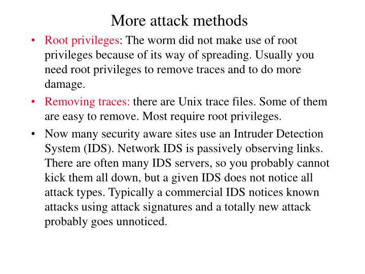 More attack methods