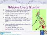 philippine poverty situation