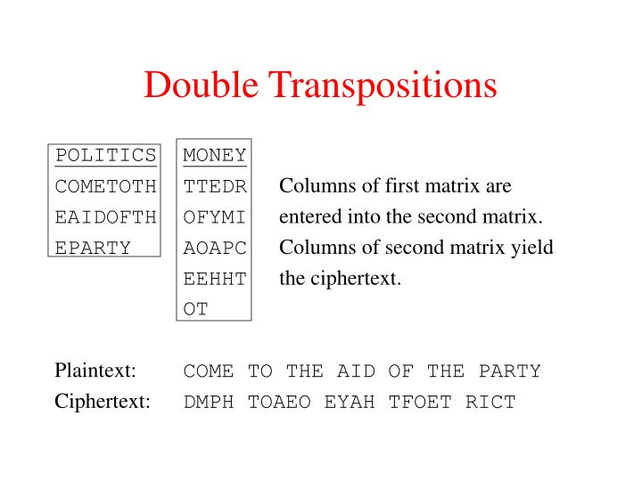 Double Transpositions