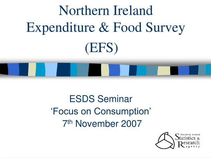 northern ireland expenditure food survey efs