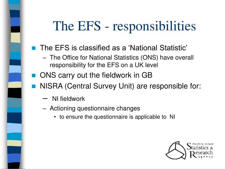The EFS - responsibilities