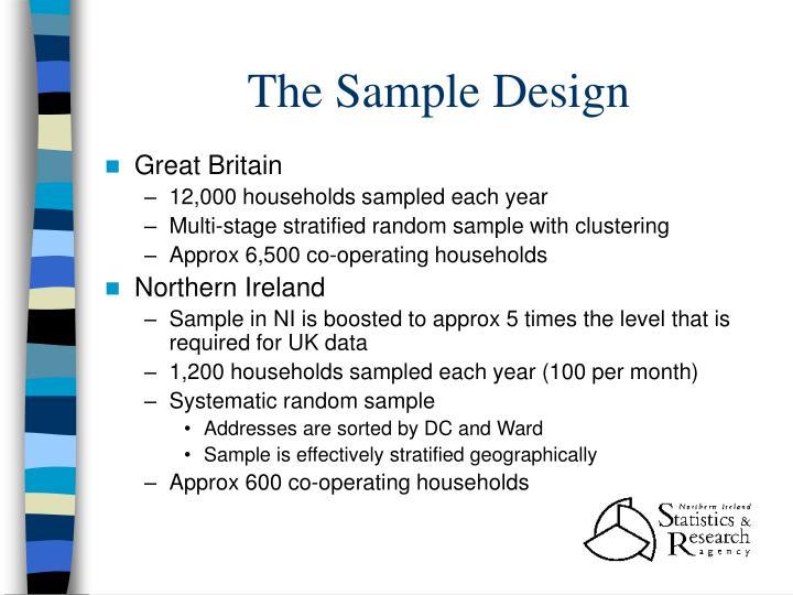The Sample Design