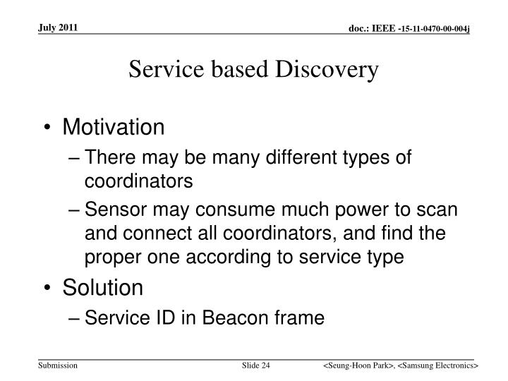 Service based Discovery