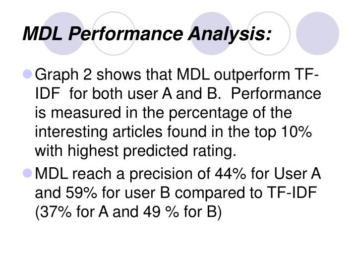 MDL Performance Analysis: