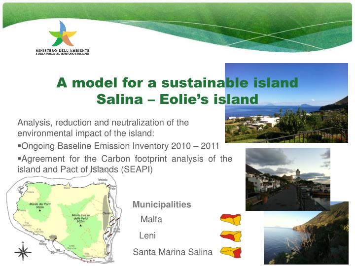 A model for a sustainable island