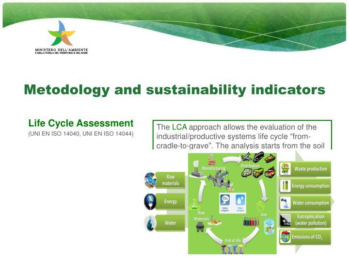 Metodology and sustainability indicators