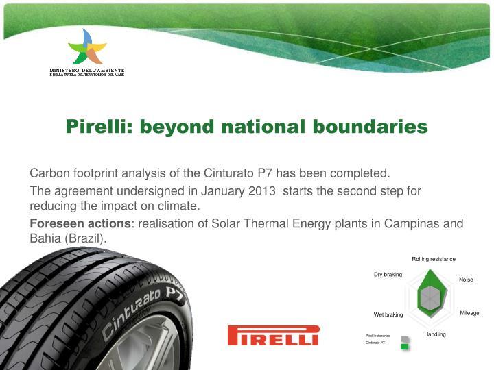 Pirelli: beyond national boundaries