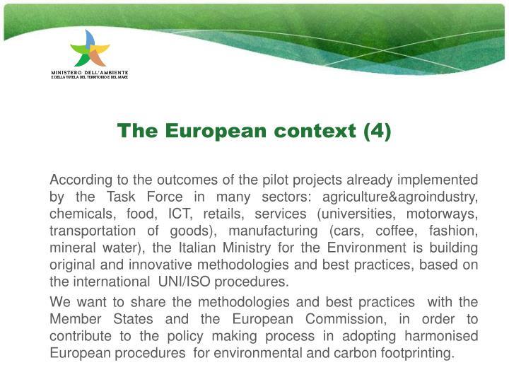 The European context (4)