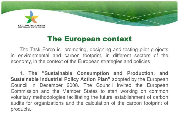 The European context